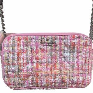NWOT Kate Spade Pink Tweed Crossbody Purse Bag